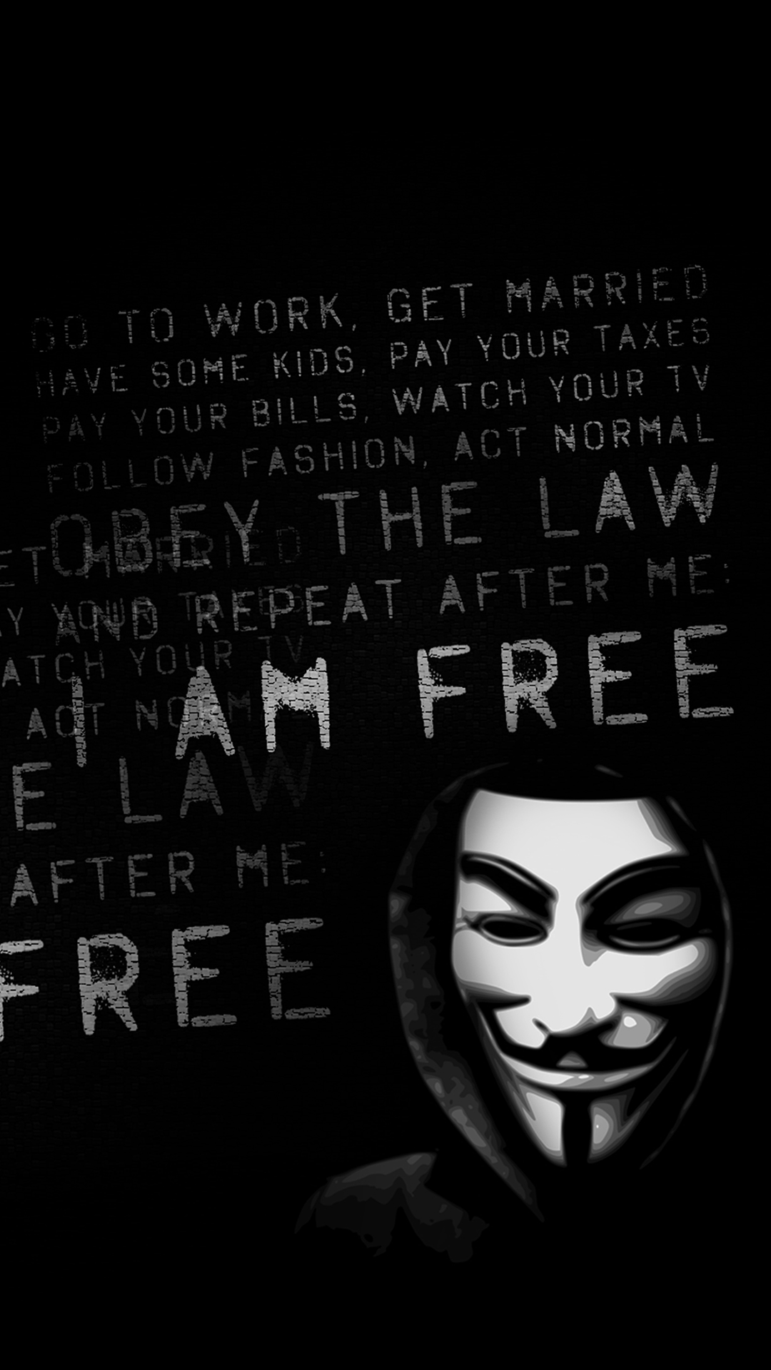free hd anonymous phone wallpaper7778