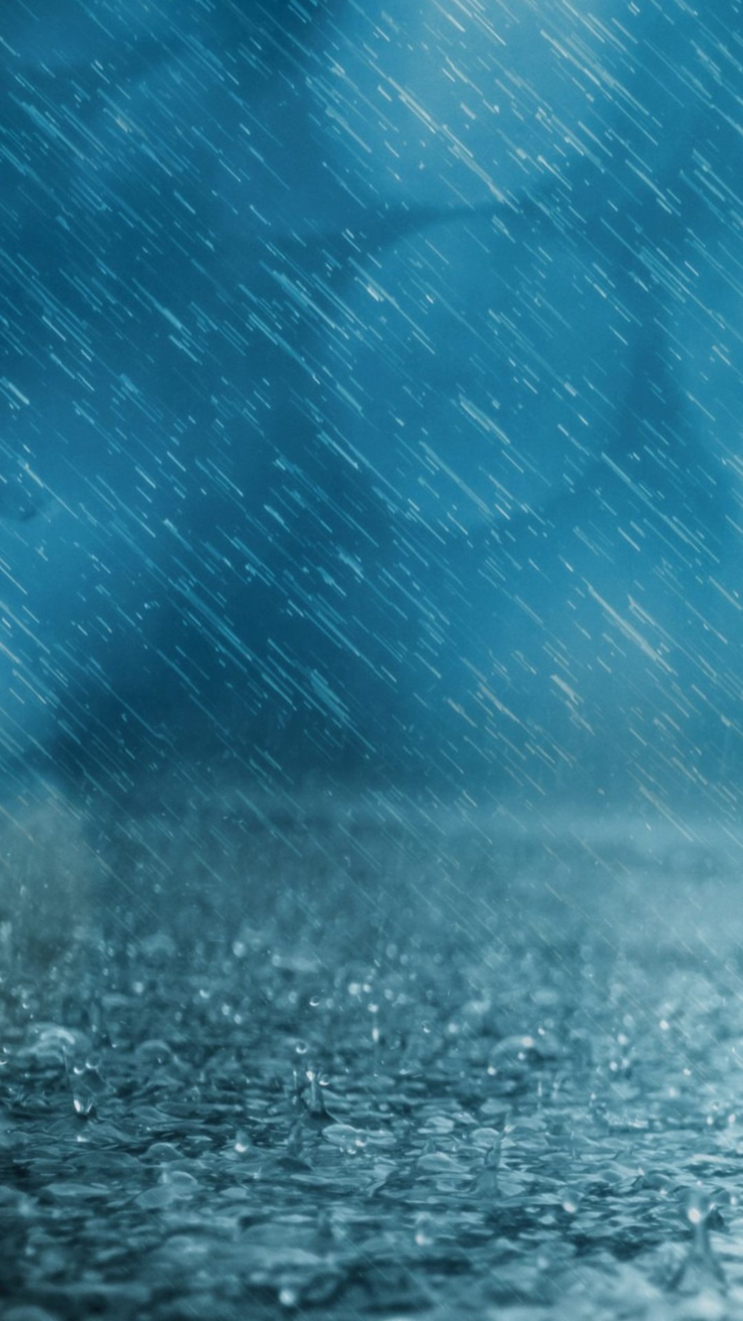 Free Hd Blue Rain Phone Wallpaper6651