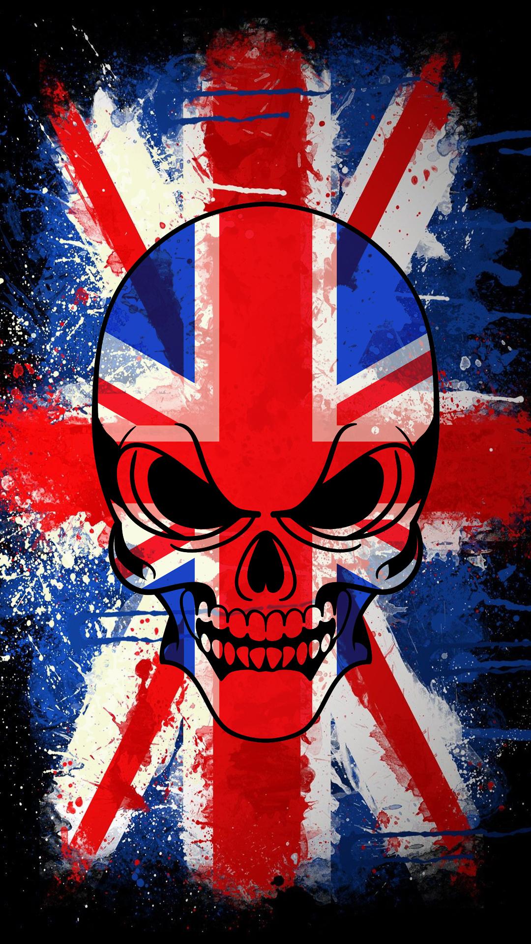 free hd british skull phone wallpaper 3368