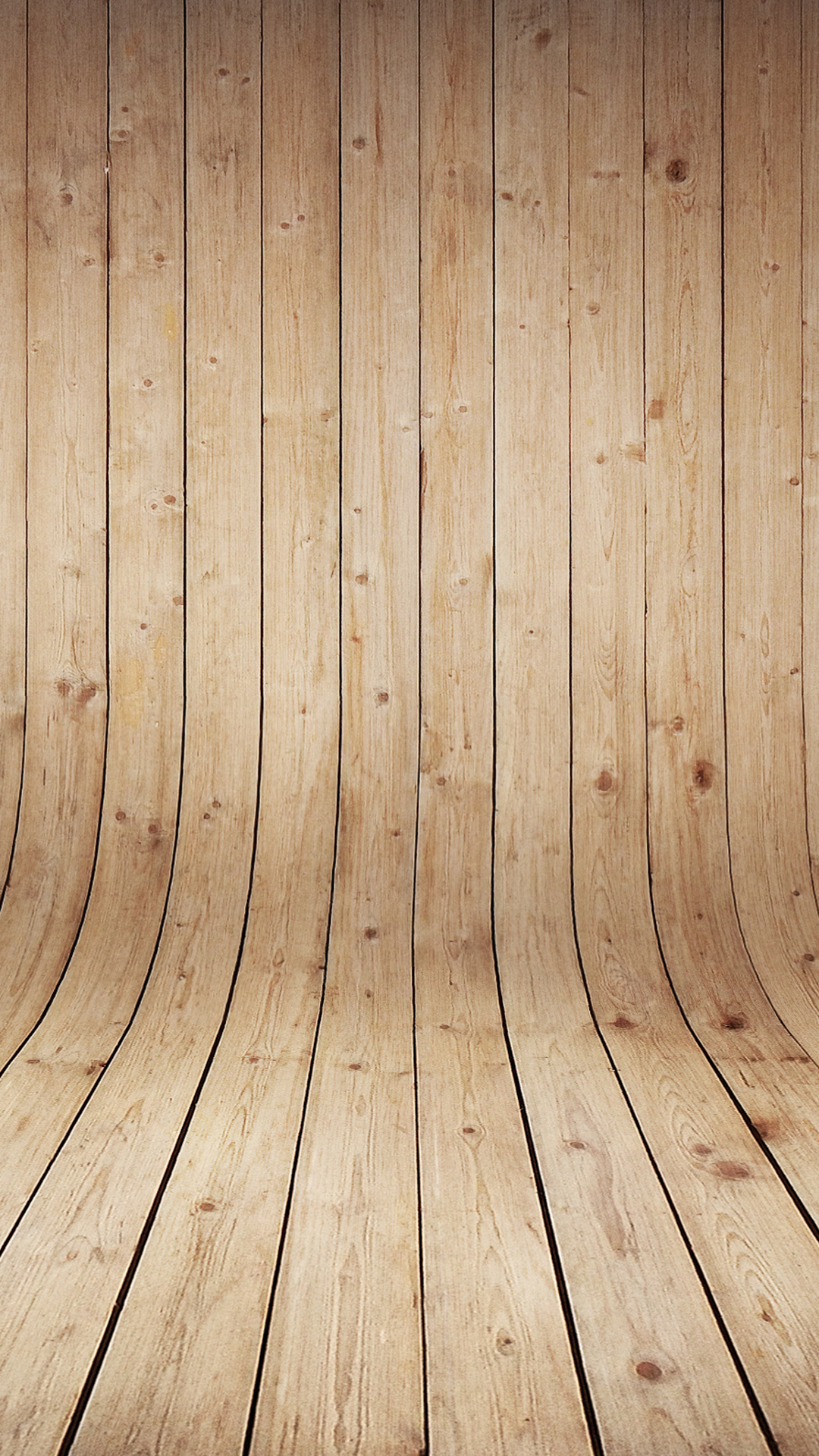 Curved Wood Phone Wallpaper