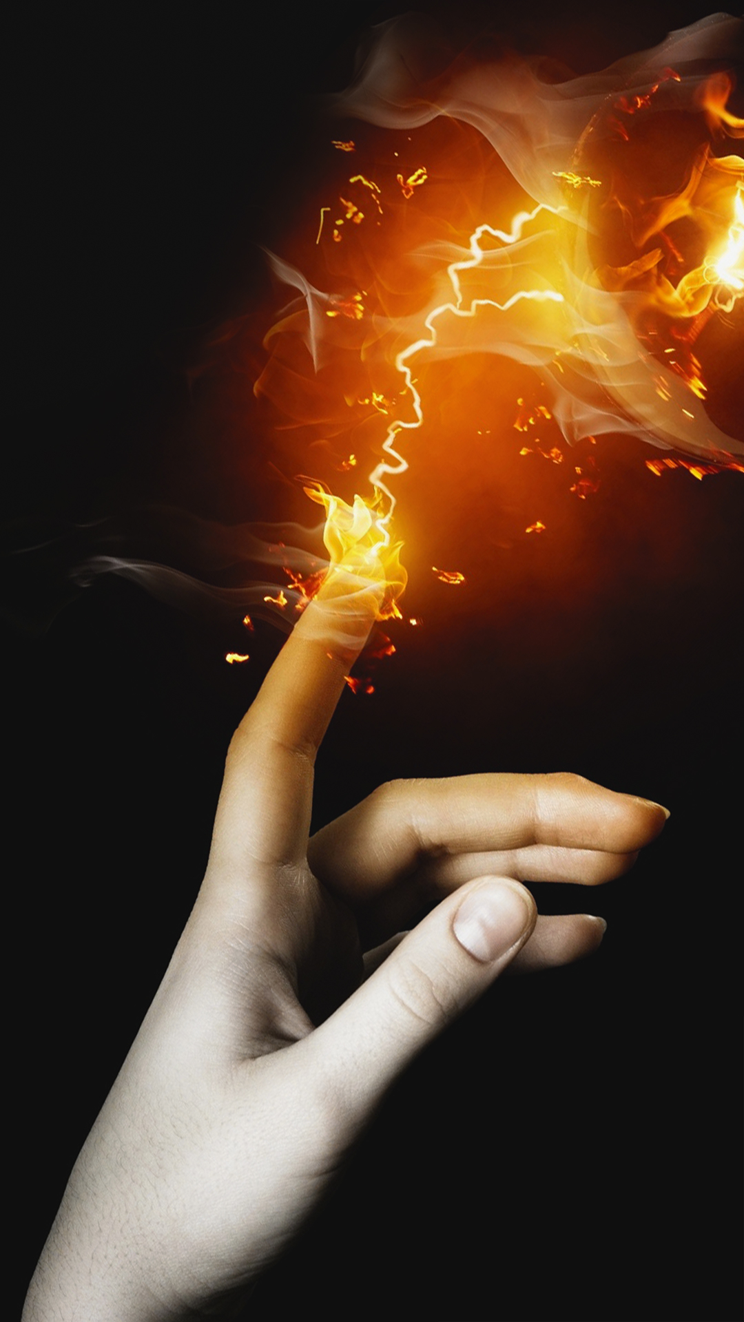 Free Hd Fire Touch Phone Wallpaper6887