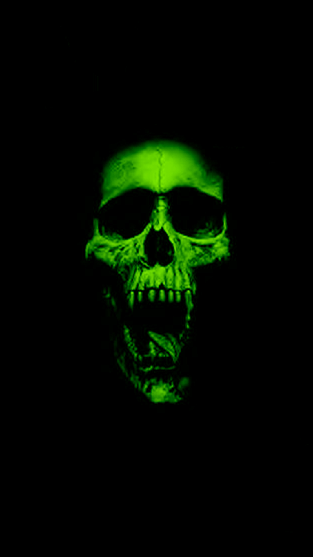Top Wallpaper Halloween Smartphone - green-skull-9658  Collection_351354.jpg