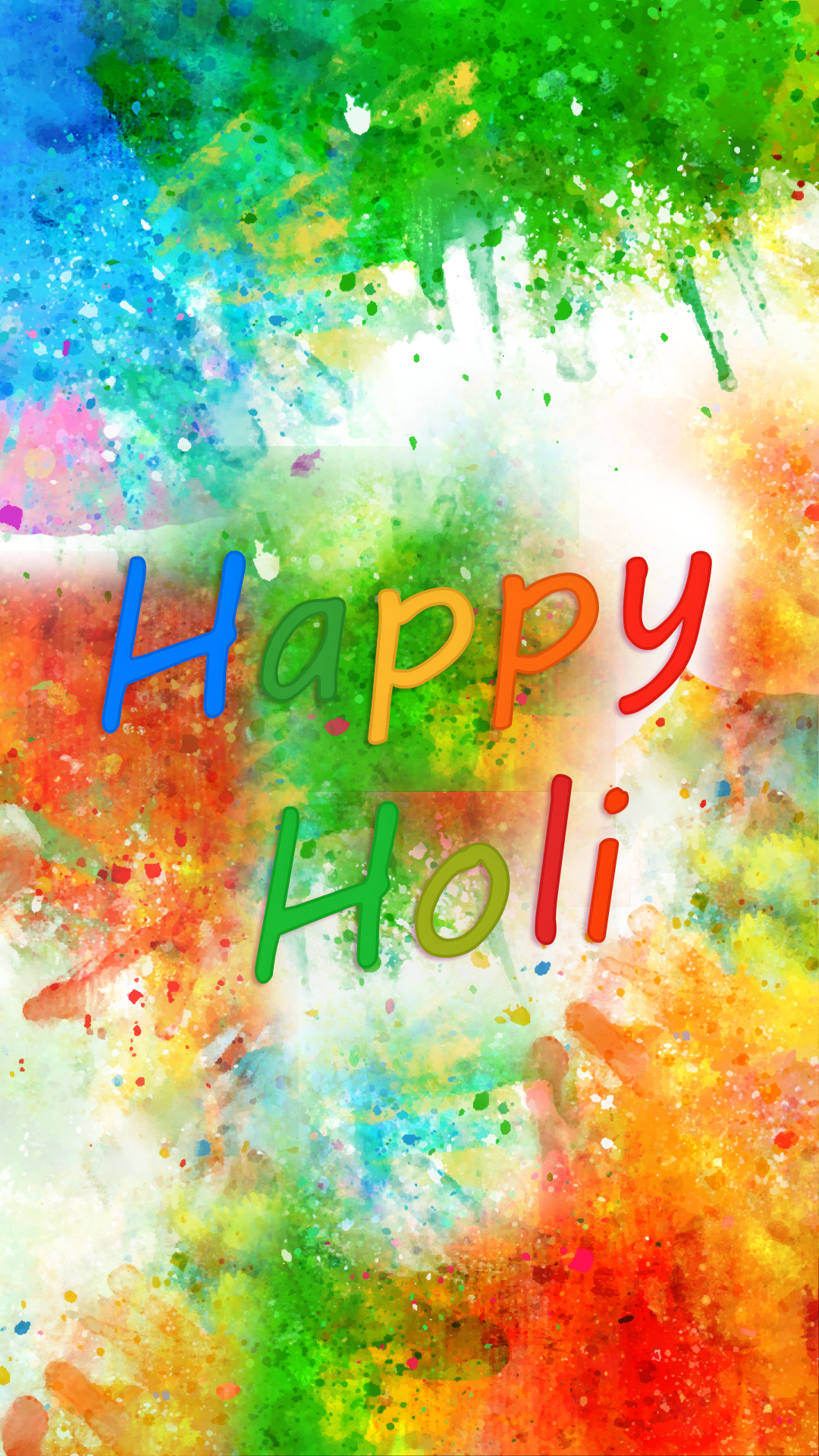 Happy Holi Phone Wallpaper
