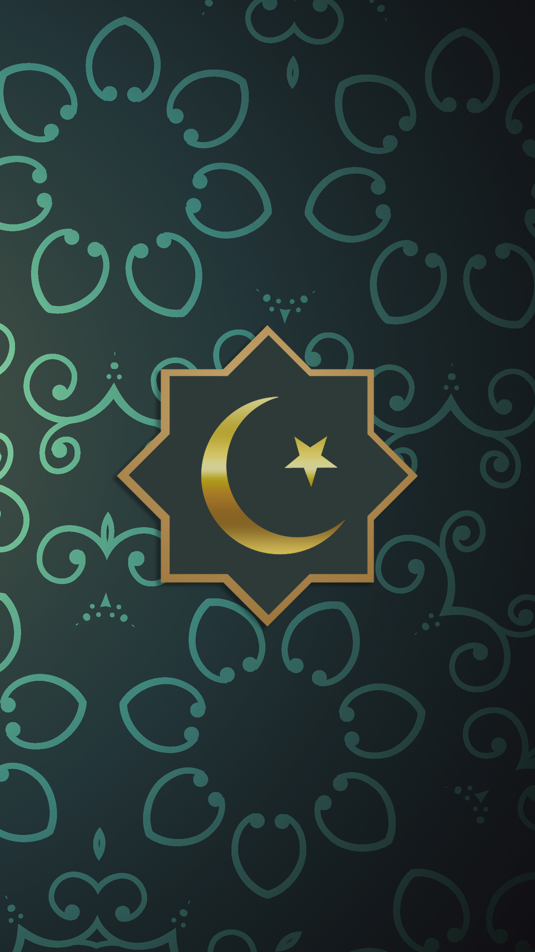 Free HD Islamic Green Phone Wallpaper...6658