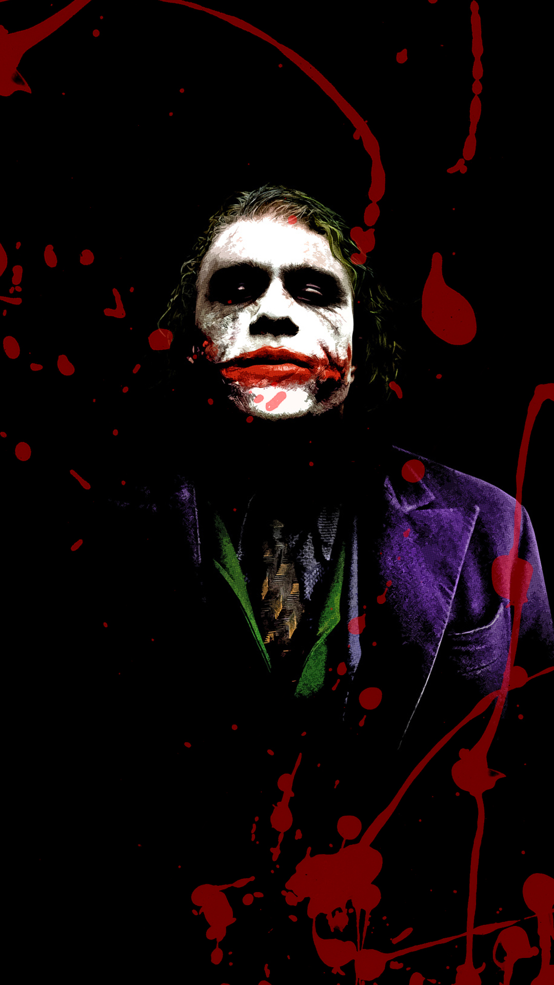 Joker Splash Phone Wallpaper
