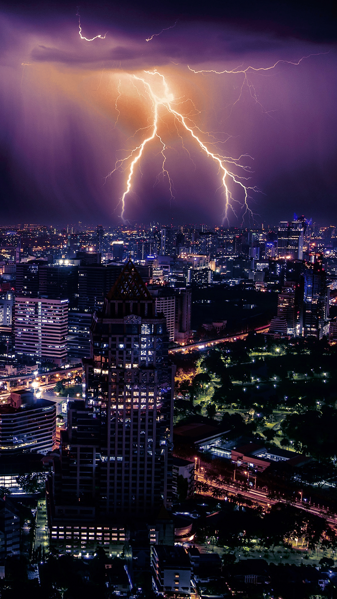 Lightning Storm Phone Wallpaper
