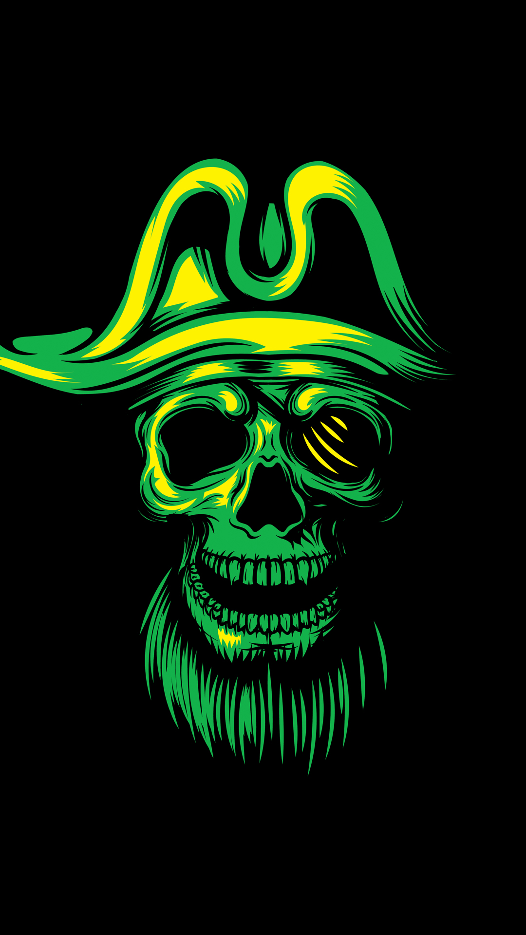 Pirate Skull Phone Wallpaper