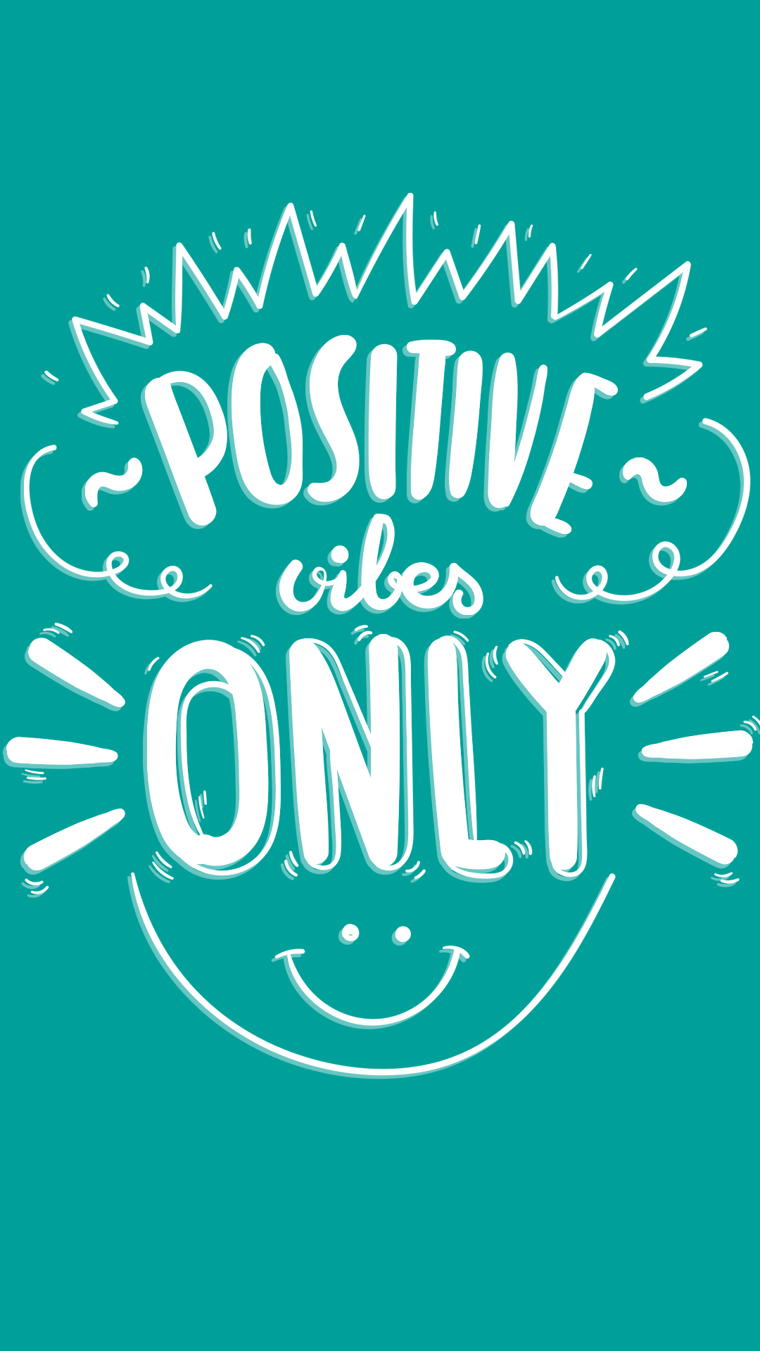 Download think positive saying quote wallpapers for your mobile.