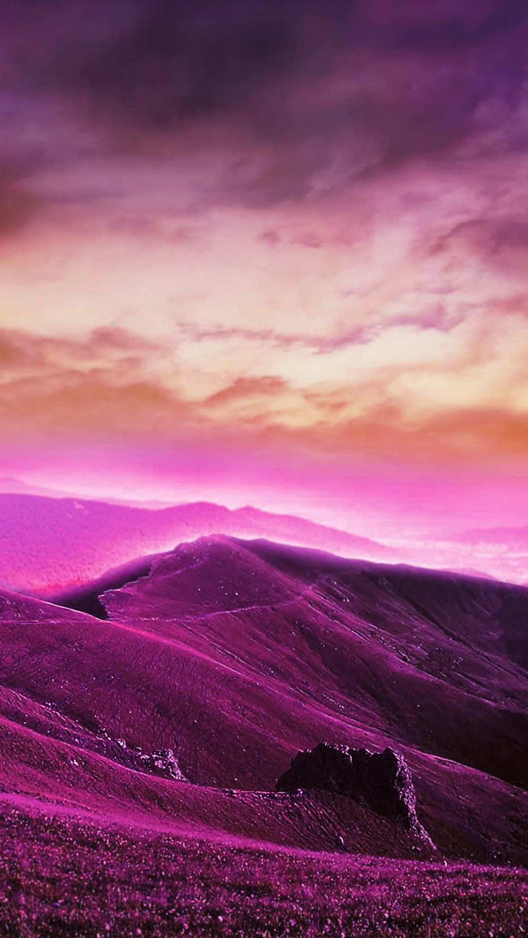 Download Purple Hills Phone Wallpaper