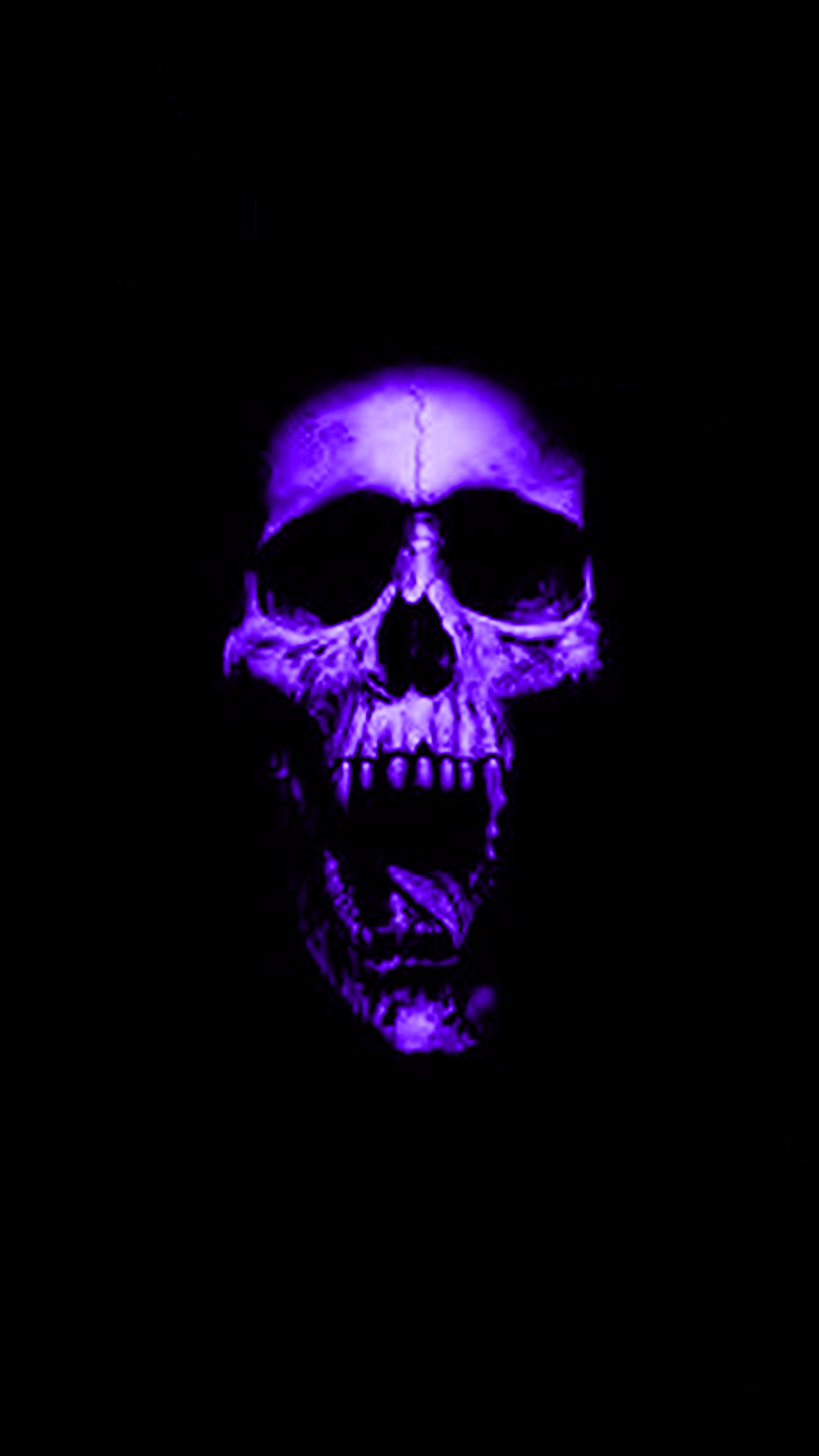 Download · Purple Skull Phone Wallpaper