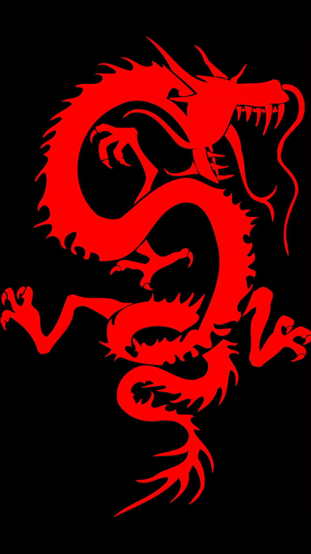 Free HD Red Dragon Phone Wallpaper1123
