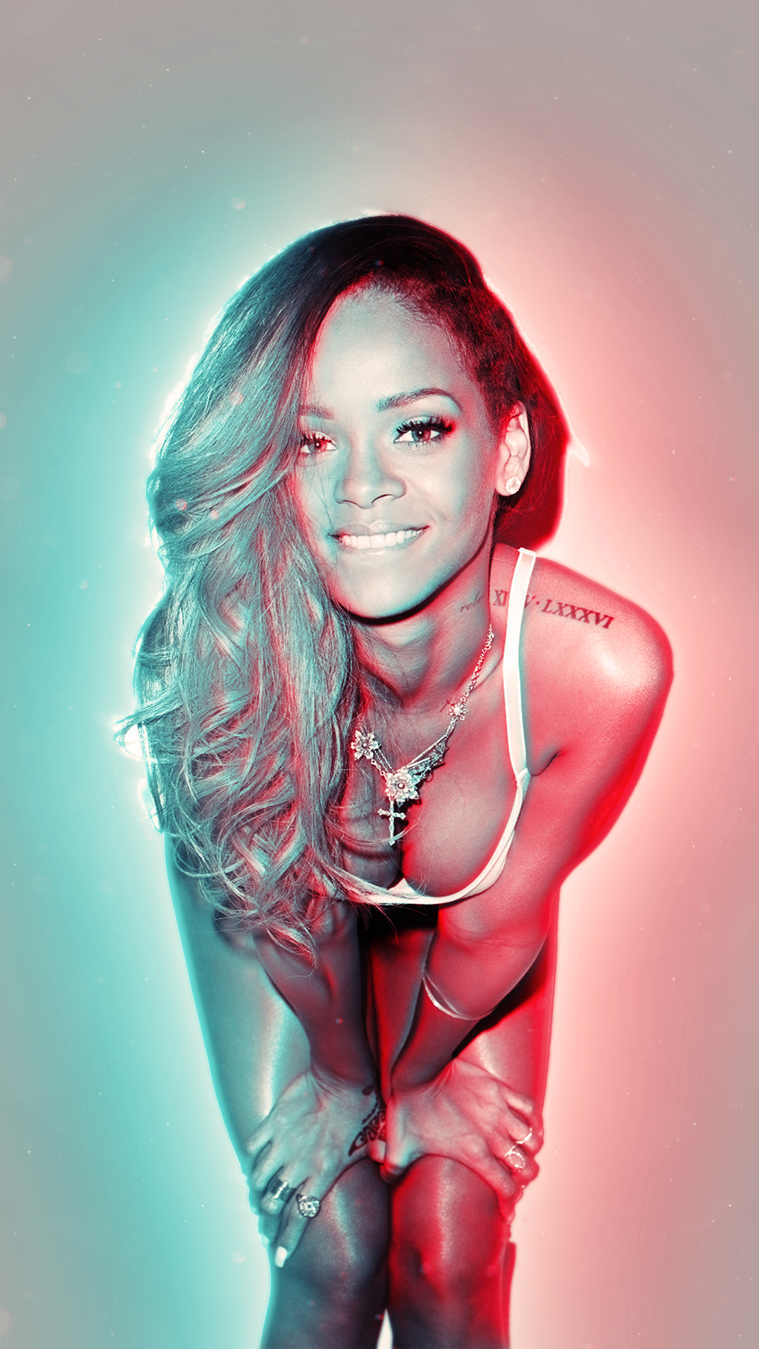 Free HD Rihanna 3D Phone Wallpaper6978