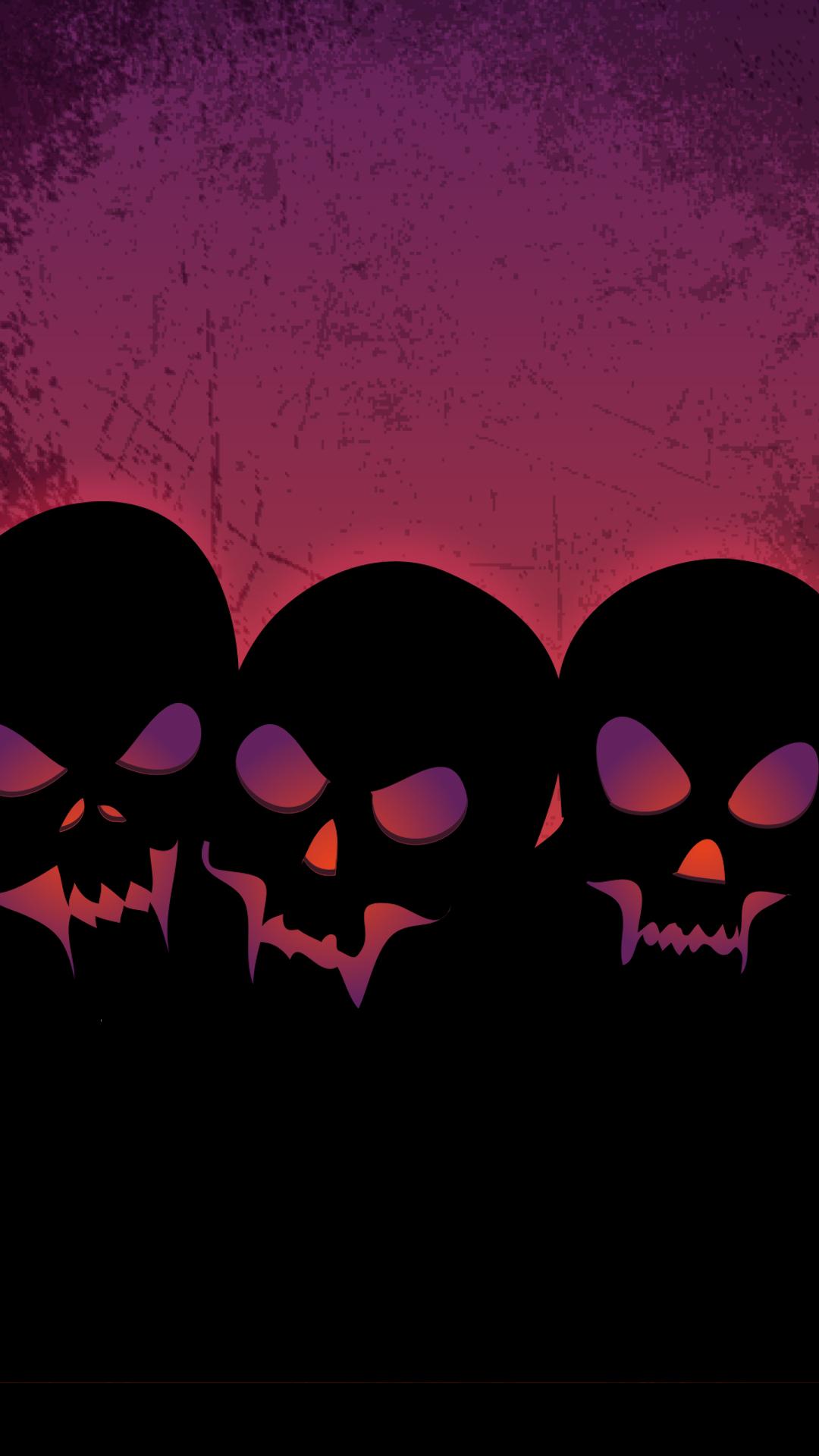 Download Wicked Skulls Phone Wallpaper