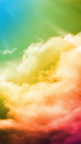 Colorful Clouds Phone Wallpaper