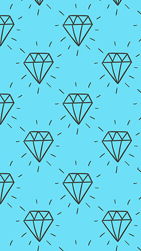 Hand Drawn Diamonds Phone Wallpaper