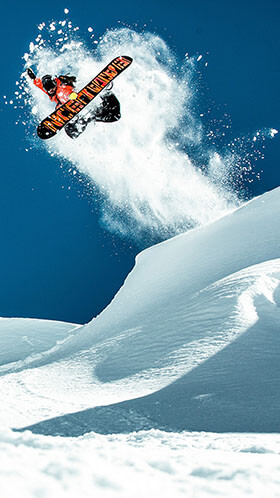 Snow Boarder Phone Wallpaper
